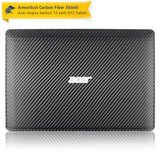 Acer Aspire Switch 10 (SW5-012) Screen Protector + Black Carbon Fiber Skin