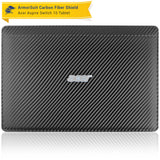 Acer Aspire Switch 10 (Model sw5-011) Screen Protector + Black Carbon Fiber Film Protector