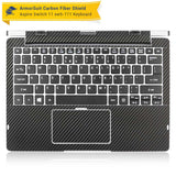 Acer Aspire Switch 11 (SW5-111) Screen Protector + Black Carbon Skin Protector  (Tablet & Keyboard)