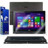 Acer Aspire Switch 12 Screen Protector + Black Carbon Fiber Skin