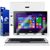 Acer Aspire Switch 12 Screen Protector + White Carbon Fiber Skin