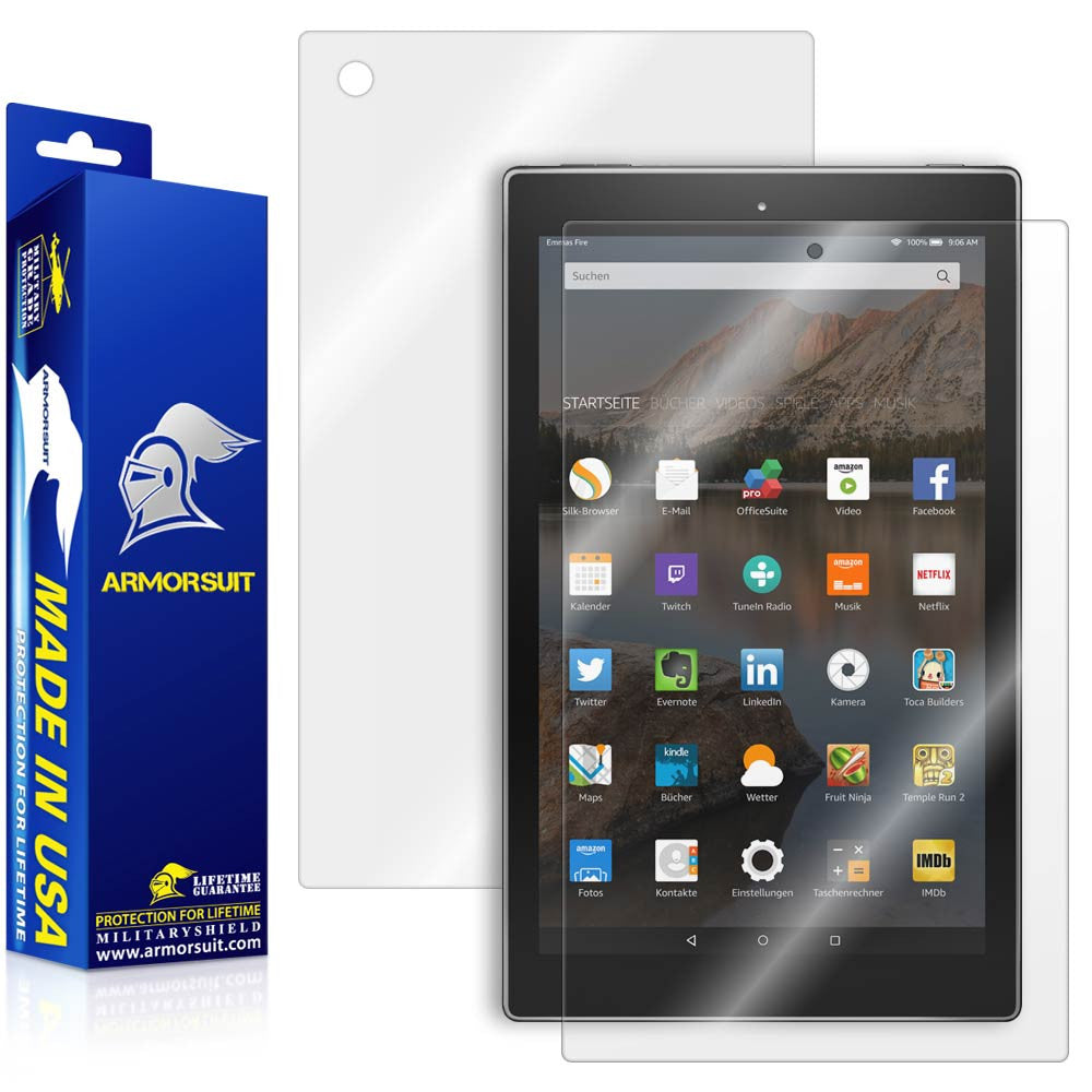 "Amazon Fire HD 10 Screen Protector (10.1"" - 2015 Edition) + Full Body Skin Protector"