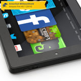 Amazon Fire HD 7 (2014 Version 4th Gen) Screen Protector + Black Carbon Fiber Skin