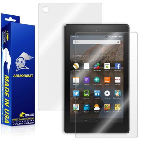 "Amazon Fire HD 8"" Screen Protector (2015)(5th Gen) + Full Body Skin Protector"