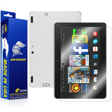 "Amazon Fire HDX 8.9"" (2014) / Kindle Fire HDX 8.9"" Screen Protector + White Carbon Fiber Film Protector"