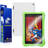Amazon Fire HD 7 Kids Edition Screen Protector  + White Carbon Fiber Skin