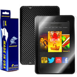 Amazon Kindle Fire HD 8.9 Inch Screen Protector + Black Carbon Fiber Skin