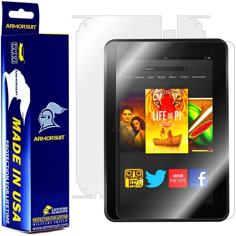 Amazon Kindle Fire HD 8.9 Inch Screen Protector + Full Body Skin