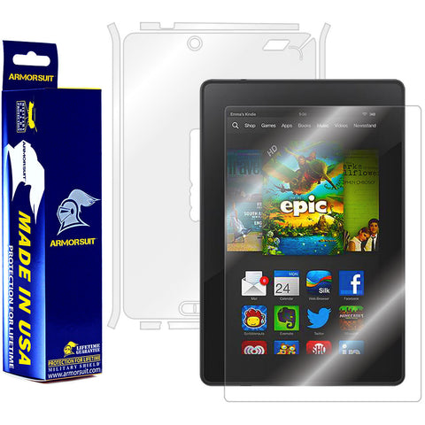 "Amazon Kindle Fire HD 7"" 2013 (2nd Generation) Screen Protector + Full Body Skin Protector"