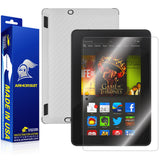 "Kindle Fire HDX 7"" Screen Protector + White Carbon Fiber Film Protector"