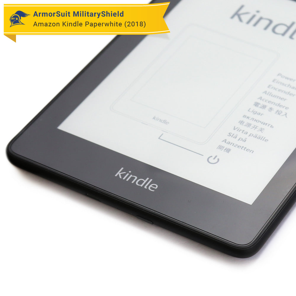 White Carbon Fiber 2018 ArmorSuit Amazon Kindle Paperwhite Screen