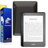 Amazon Kindle Voyage Anti-Glare (Matte) Screen Protector + Black Carbon Fiber Skin