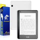 Amazon Kindle Voyage Anti-Glare (Matte) Screen Protector + White Carbon Fiber Skin