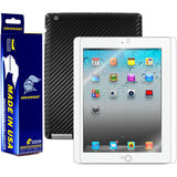 Apple iPad 2 (WiFi) Screen Protector + Black Carbon Fiber Film Protector