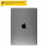"Apple iPad 9.7"" (2018) WiFi ONLY Screen Protector + Black Carbon Fiber Skin"