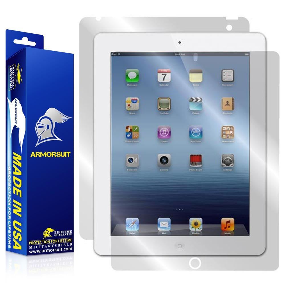 Apple iPad 3 Screen Protector + Full Body Skin Protector (AT&T 4G) - 3rd Gen