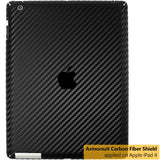 Apple iPad 4 (WiFi + 4G LTE) Screen Protector + Black Carbon Fiber Film Protector
