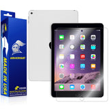 Apple iPad Air 2 (WiFi + 4G LTE) Screen Protector  + White Carbon Fiber Skin