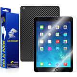 Apple iPad Air (WiFi + LTE) Screen Protector + Black Carbon Fiber Film Protector