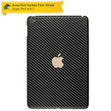 Apple iPad Mini 4 Screen Protector + Black Carbon Fiber Skin