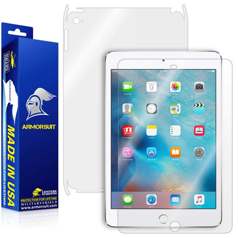 Apple iPad Mini 4 Screen Protector + Full Body Skin Protector