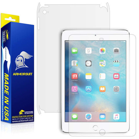 Apple iPad Mini 4 Matte (Anti-Glare) Screen Protector + Matte Full Body Skin Protector
