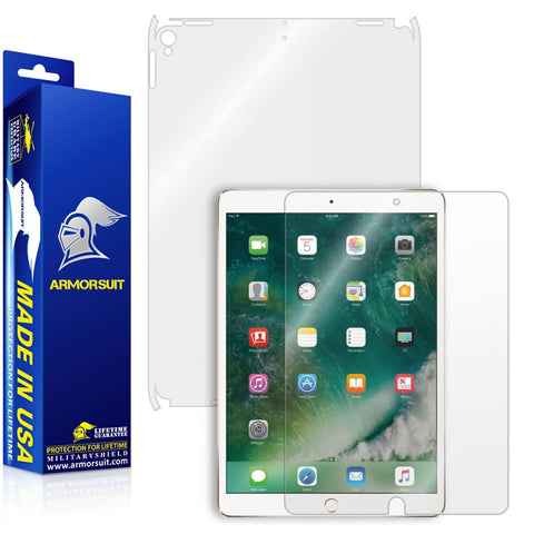 "Apple iPad Pro 10.5"" (2017) Screen Protector + Clear Full Body Skin (WiFi Only)"