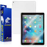 "Apple iPad Pro 12.9"" (WiFi + 4G LTE) Screen Protector + White Carbon Fiber Skin"