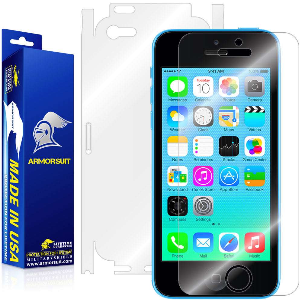 Apple iPhone 5c Screen Protector + Full Body Skin Protector