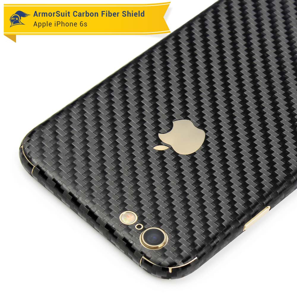 brand new ff674 1155c Apple iPhone 6s Plus Screen Protector + Black Carbon Fiber Skin - ArmorSuit