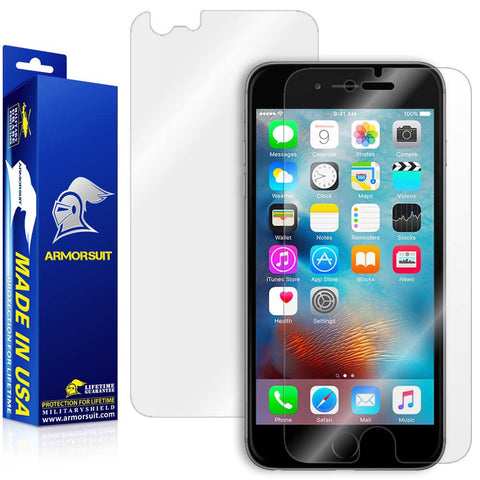 Apple iPhone 6s Plus Screen Protector + Easy Installation Back Skin Protector