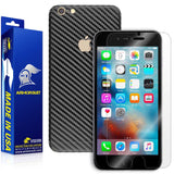 Apple iPhone 6s Plus Screen Protector + Black Carbon Fiber Skin