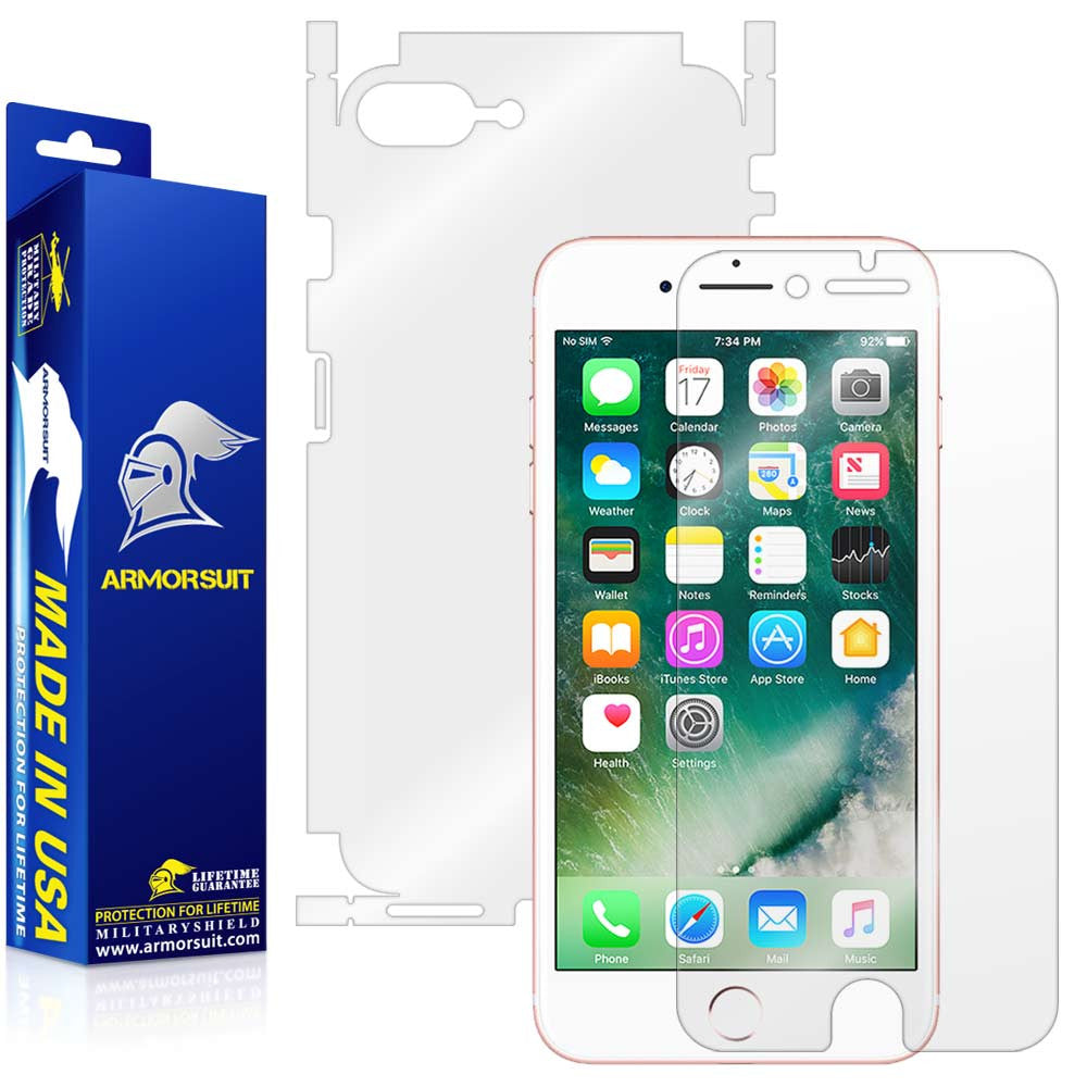 sneakers for cheap 13e8c 47c0f Apple iPhone 7 Plus Screen Protector + Full Body Skin Protector - ArmorSuit