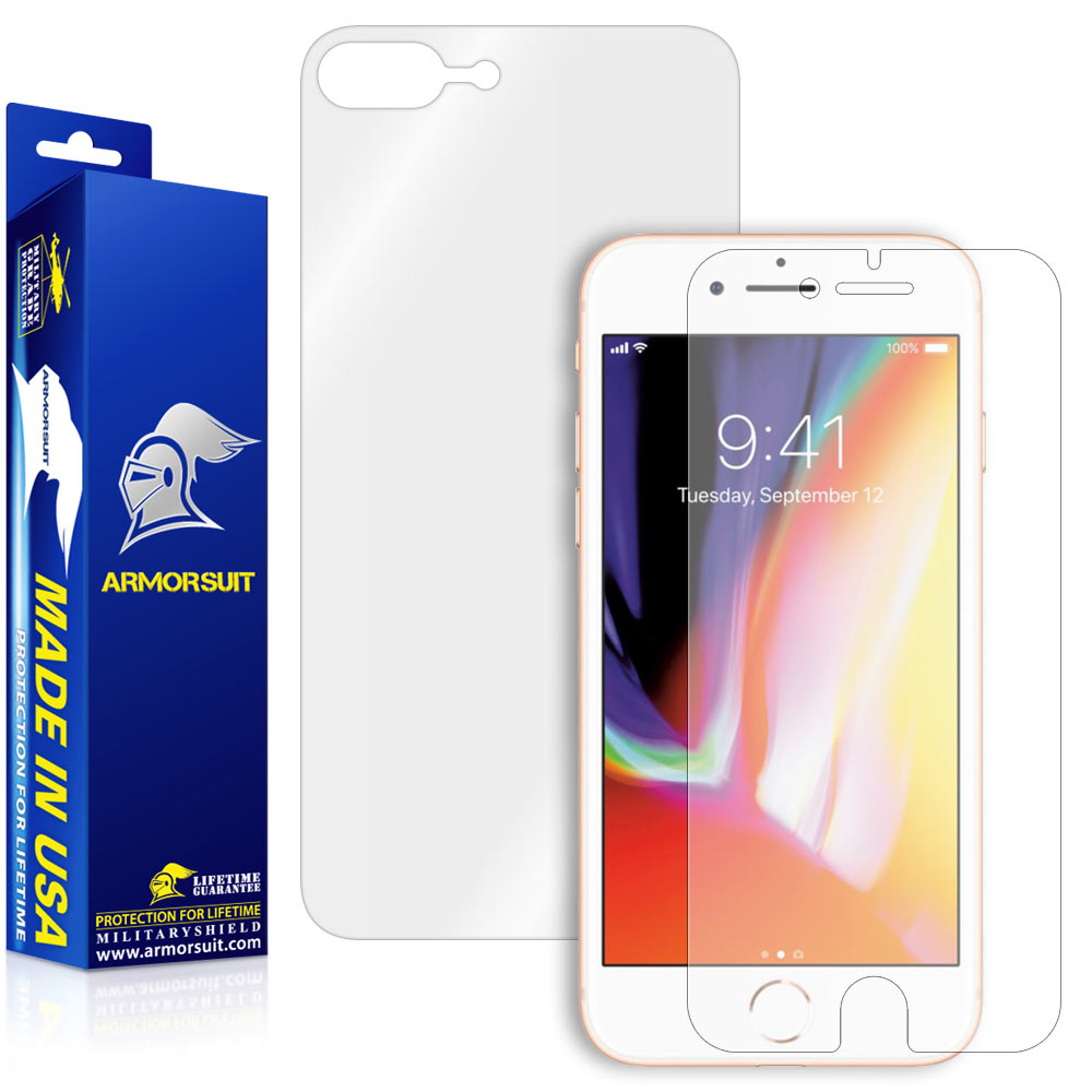 Apple iPhone 8 Plus Screen Protector (Case-Friendly + Back Protector)