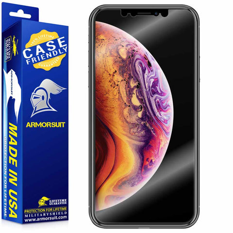 Apple iPhone Xs Screen Protector Case Friendly