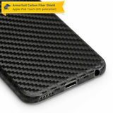 Apple iPod Touch 6G Screen Protector + Black Carbon Fiber Skin