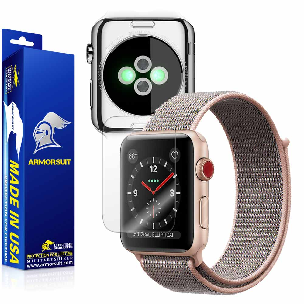 more photos a5b03 e54ad Apple Watch 38mm (Series 3) Screen Protector + Clear Full Body Skin  Protector - ArmorSuit