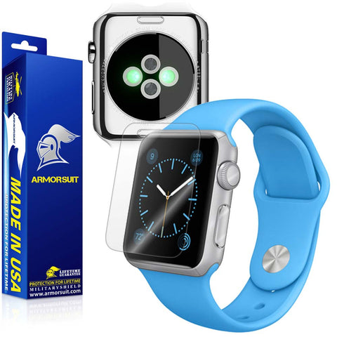 Apple Watch 38mm (Series 1) Screen Protector + Clear Full Body Skin Protector