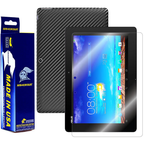 ASUS Transformer Pad TF701T Screen Protector + Black Carbon Fiber Film Protector