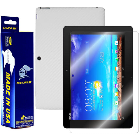 ASUS Transformer Pad TF701T Screen Protector + White Carbon Fiber Film Protector