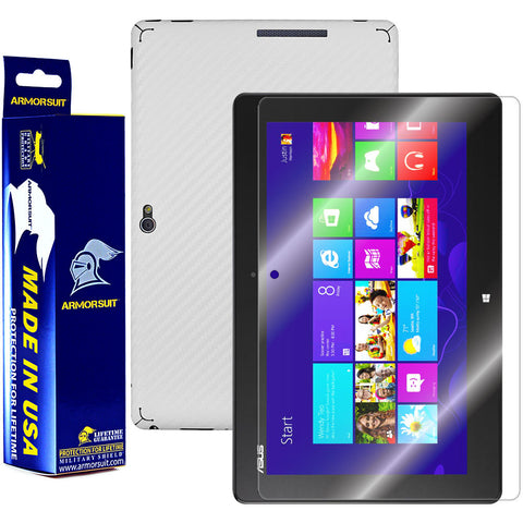 ASUS VivoTab Smart ME400C Screen Protector + White Carbon Fiber