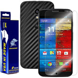 Motorola Moto X (1st Generation) Screen Protector + Black Carbon Fiber Film Protector