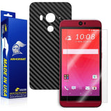 HTC Butterfly 3 Screen Protector + Black Carbon Fiber Film Protector