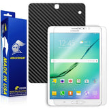 Samsung Galaxy Tab S2 8.0 Screen Protector + Black Carbon Fiber Skin