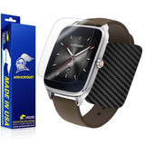 ASUS ZenWatch 2 1.63 Screen Protector + Black Carbon Fiber Skin