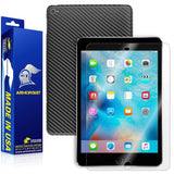 Apple iPad Mini 4 (WiFi +4G LTE) Screen Protector + Black Carbon Fiber Skin