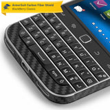 BlackBerry Classic (Q20) Screen Protector + Black Carbon Fiber Skin