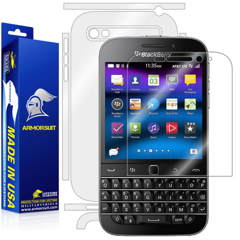 BlackBerry Classic (Q20) Screen Protector + Full Body Skin Protector