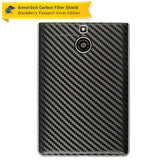 BlackBerry Passport Sliver Edition Screen Protector + Black Carbon Fiber Skin