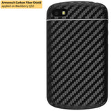 BlackBerry Q10 Screen Protector + Black Carbon Fiber Skin